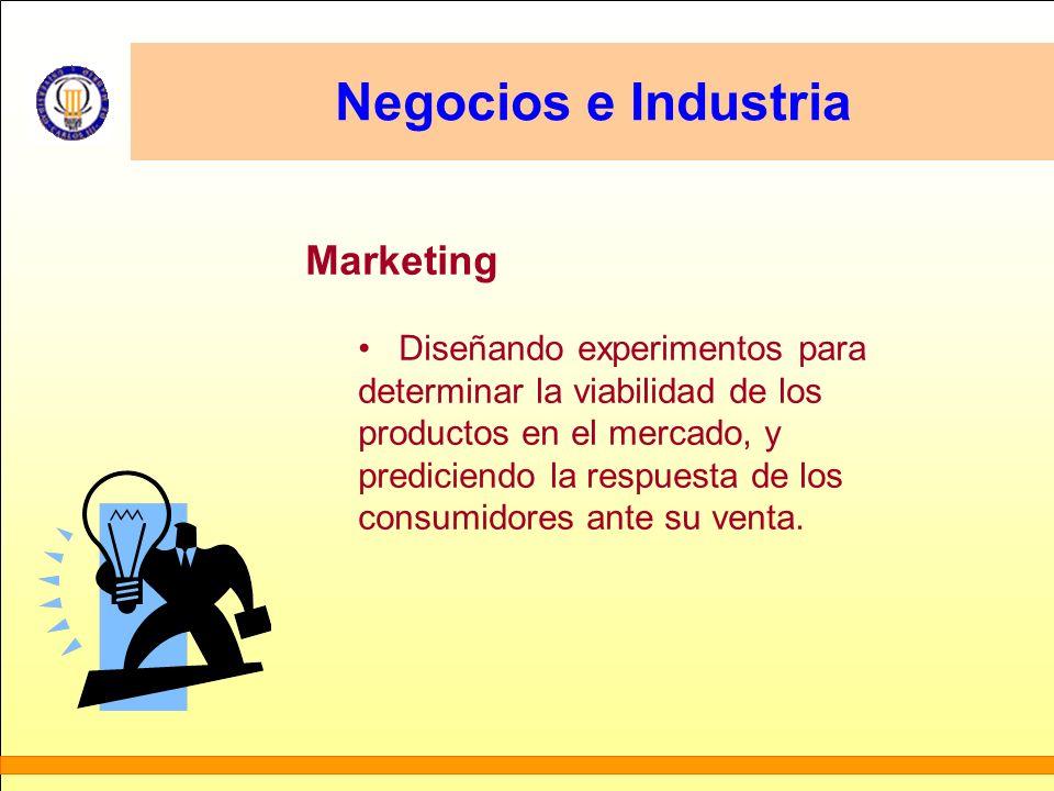 Negocios e Industria Marketing Diseñando experimentos para determinar la viabilidad de los productos en el mercado, y prediciendo la respuesta de los