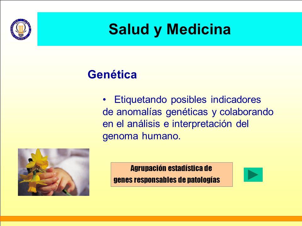 Salud y Medicina Genética Etiquetando posibles indicadores de anomalías genéticas y colaborando en el análisis e interpretación del genoma humano. Agr