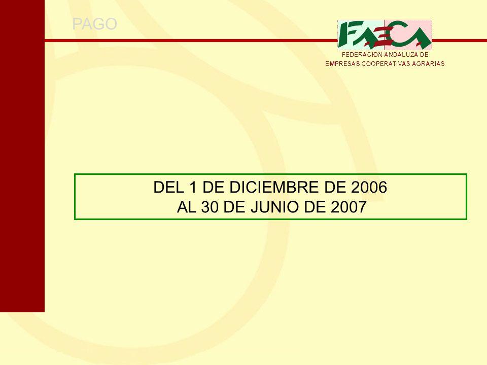 PAGO DEL 1 DE DICIEMBRE DE 2006 AL 30 DE JUNIO DE 2007