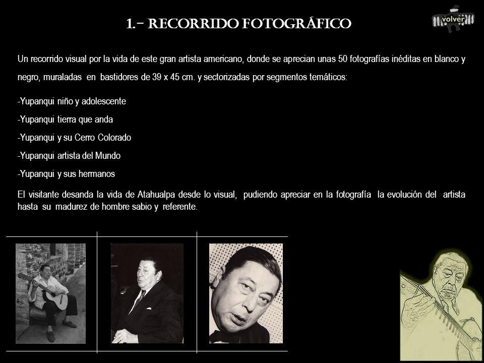 1.- MUESTRA FOTOGRÁFICA (+) 2.- OBJETOS Y RECUERDOS PERSONALES (+) 3.- CHARLA DIDACTICA EDUCATIVA (+) 4.- PROYECCIONES DOCUMENTALES (+) 5.- PRESENTACI