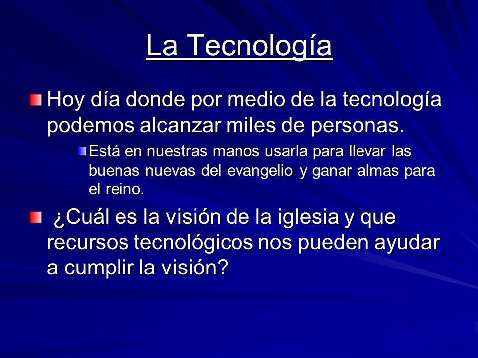 EL MINISTERIO El Ministerio Tecnológico (sonido, audiovisual, medios, etc..) Yo oí pero no pude entender... Daniel 12:8 ¿Qué Dios nos está enfatizando en estos tiempos.