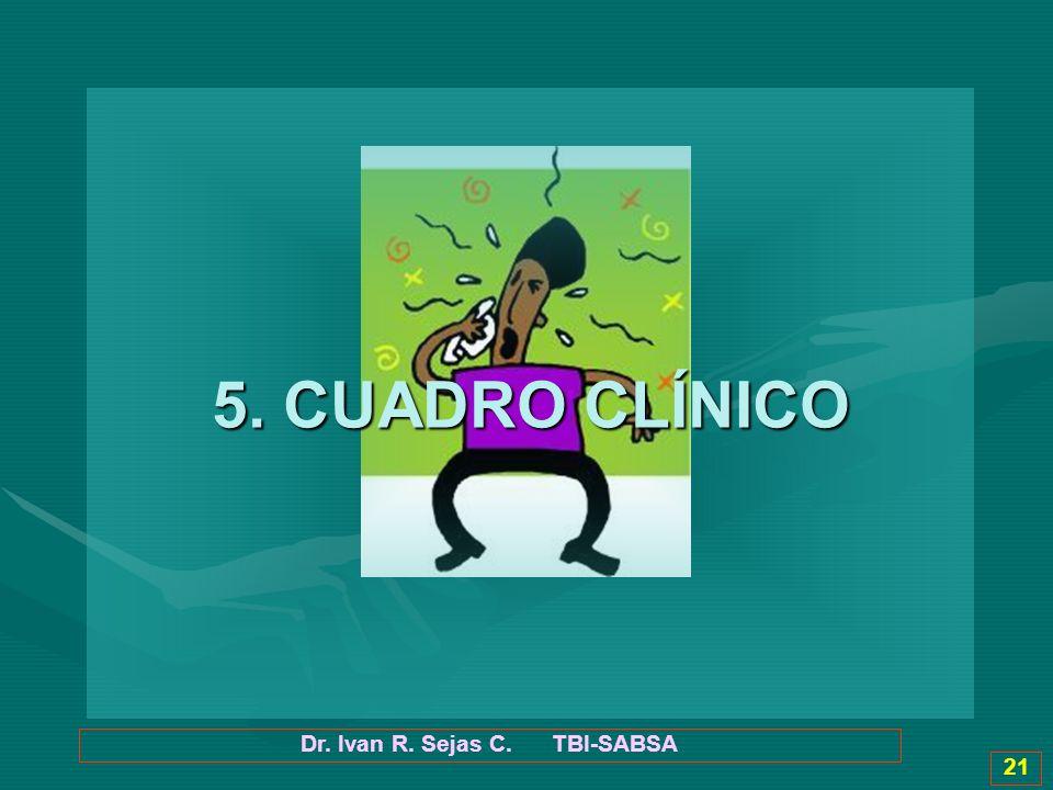Dr. Ivan R. Sejas C. TBI-SABSA 21 5. CUADRO CLÍNICO