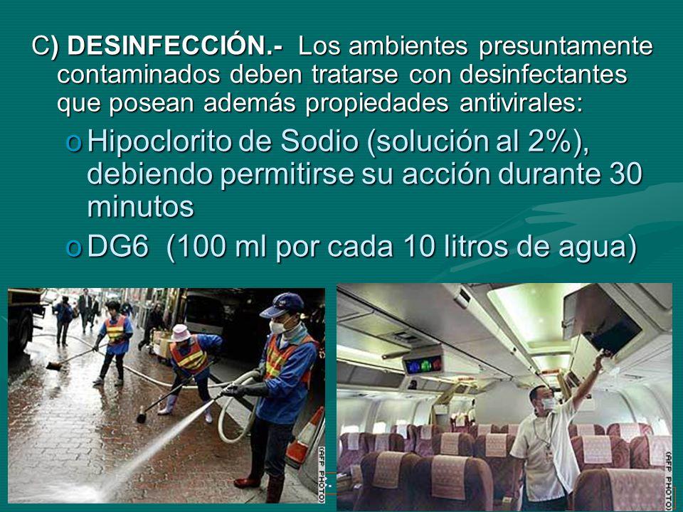 Dr. Ivan R. Sejas C. TBI-SABSA 37 C) DESINFECCIÓN.- Los ambientes presuntamente contaminados deben tratarse con desinfectantes que posean además propi