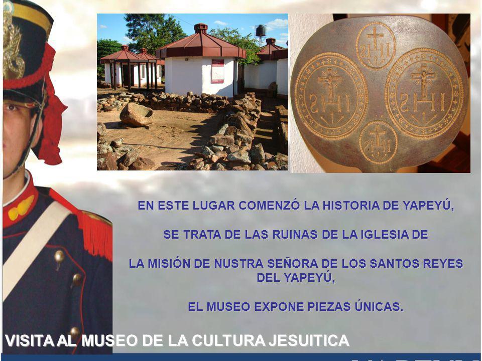 VISITA AL MUSEO DE LA CULTURA JESUITICA EN ESTE LUGAR COMENZÓ LA HISTORIA DE YAPEYÚ, SE TRATA DE LAS RUINAS DE LA IGLESIA DE LA MISIÓN DE NUSTRA SEÑORA DE LOS SANTOS REYES DEL YAPEYÚ, EL MUSEO EXPONE PIEZAS ÚNICAS.