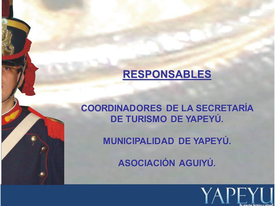 RESPONSABLES COORDINADORES DE LA SECRETARÍA DE TURISMO DE YAPEYÚ.