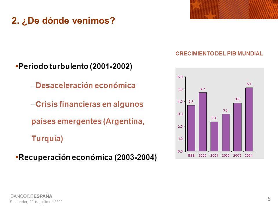 Santander, 11 de julio de 2005 5 2. ¿De dónde venimos.