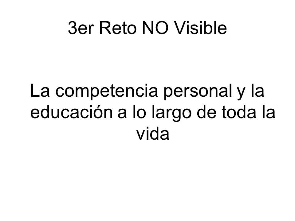 3er Reto NO Visible La competencia personal y la educación a lo largo de toda la vida