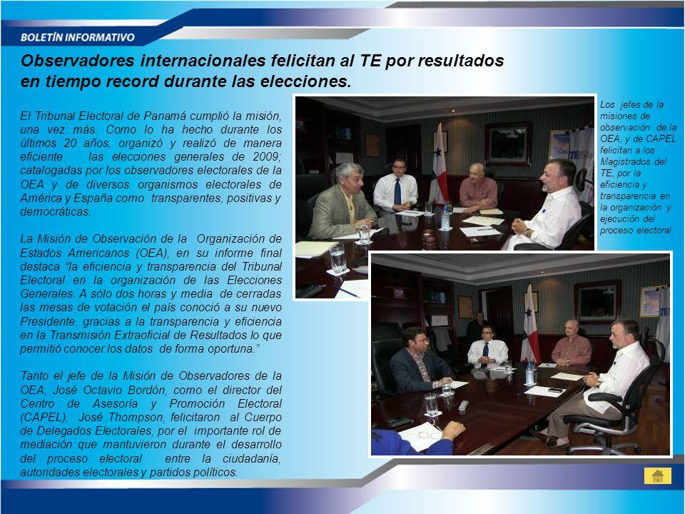 El Tribunal Electoral de Panamá cumplió la misión, una vez más. Como lo ha hecho durante los últimos 20 años, organizó y realizó de manera eficiente l