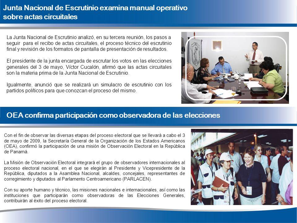 Junta Nacional de Escrutinio examina manual operativo sobre actas circuitales La Junta Nacional de Escrutinio analizó, en su tercera reunión, los paso