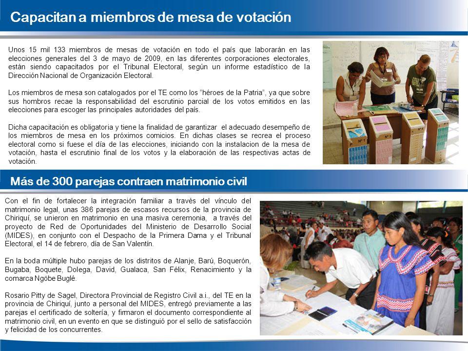 Capacitan a miembros de mesa de votación Unos 15 mil 133 miembros de mesas de votación en todo el país que laborarán en las elecciones generales del 3
