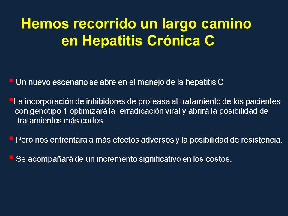 Un nuevo escenario se abre en el manejo de la hepatitis C La incorporación de inhibidores de proteasa al tratamiento de los pacientes con genotipo 1 o