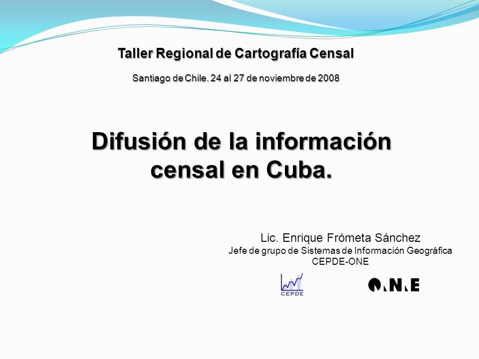 Taller Regional de Cartografía Censal Santiago de Chile.