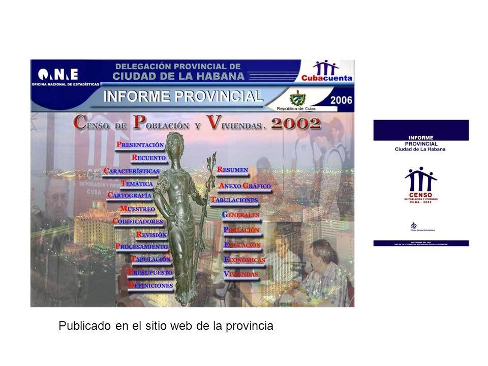 Publicado en el sitio web de la provincia