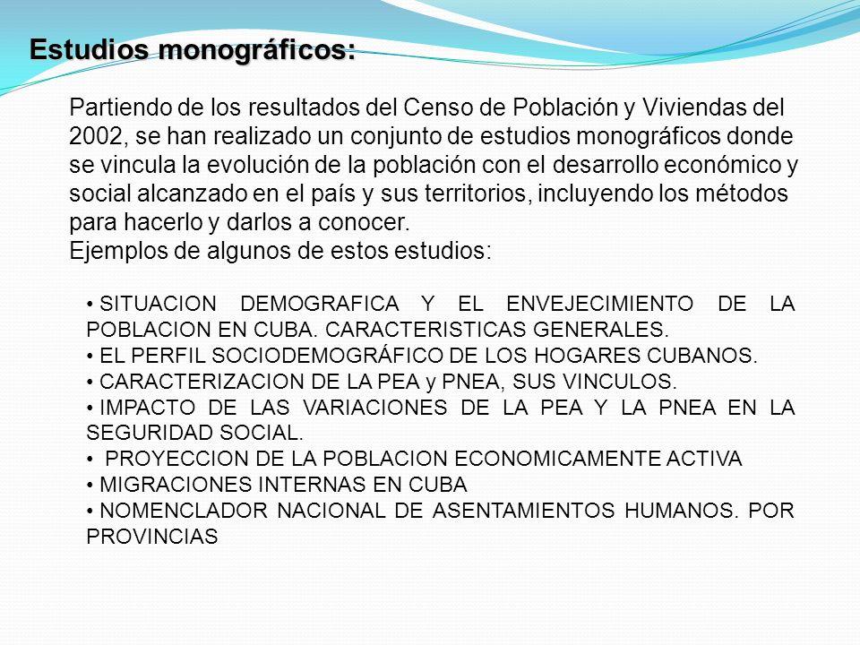 SITUACION DEMOGRAFICA Y EL ENVEJECIMIENTO DE LA POBLACION EN CUBA.