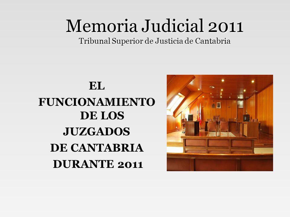 Memoria Judicial 2011 Tribunal Superior de Justicia de Cantabria RESUMEN GENERAL DE ASUNTOS