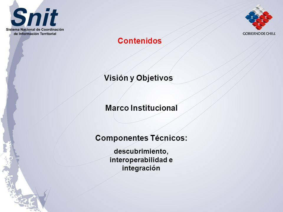 SNIT Un mecanismo permanente de coordinación interinstitucional para la gestión de la información territorial en el país.