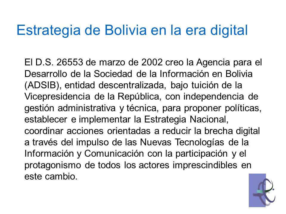Actividades que se promueven Diseño de una Política Digital concertada y conforme con planes específicos de acción.