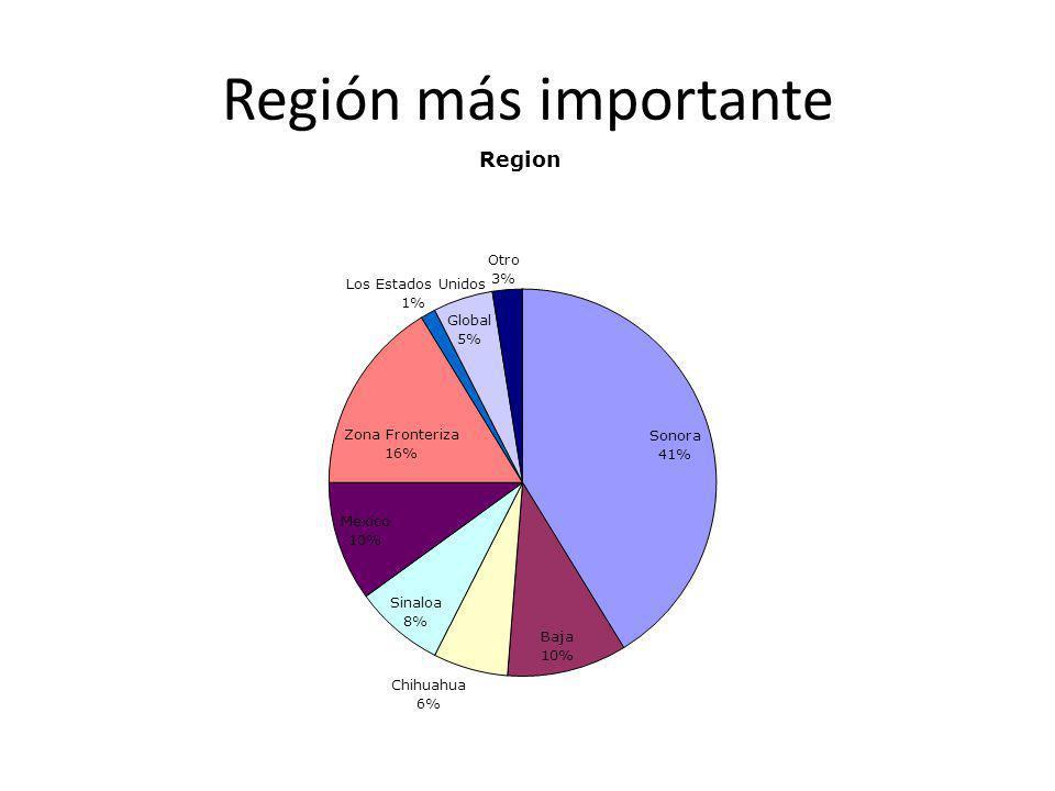 Región más importante