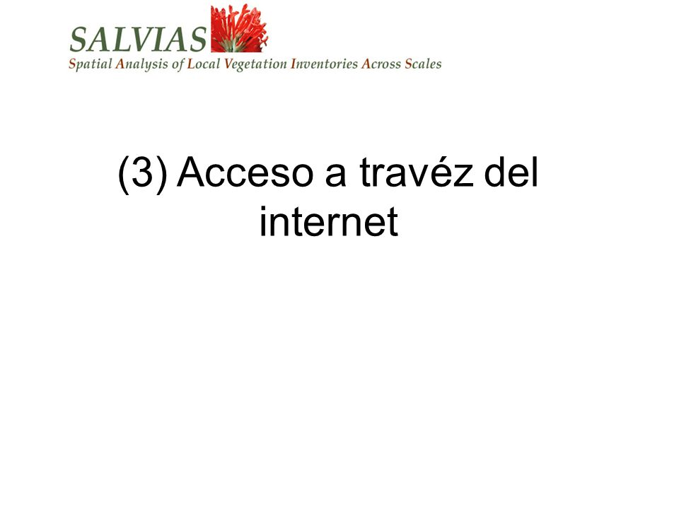 (3) Acceso a travéz del internet