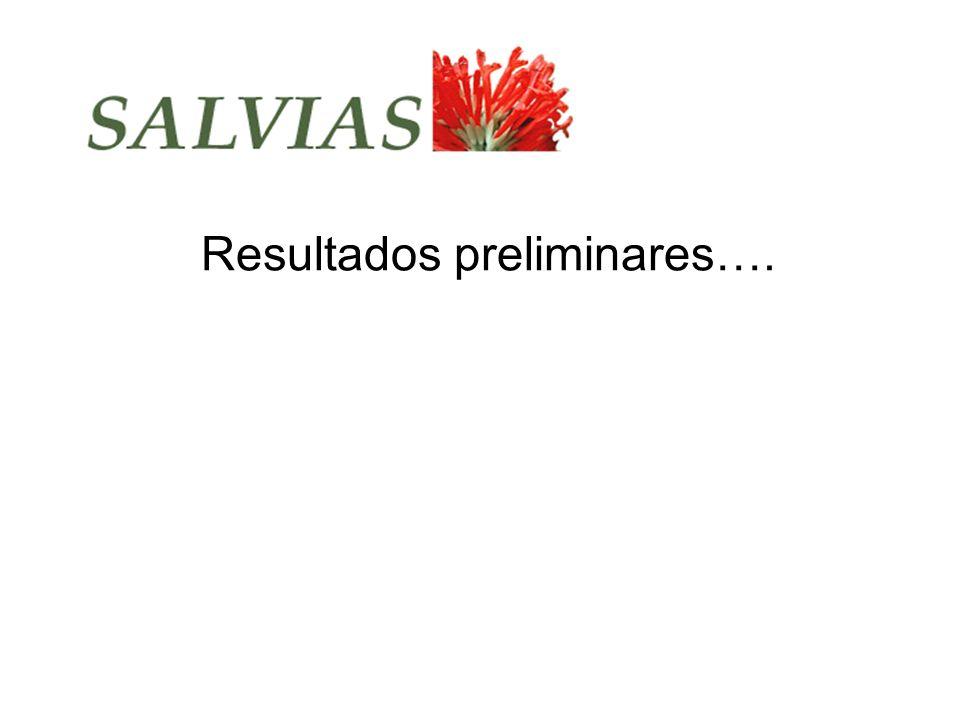 Resultados preliminares….