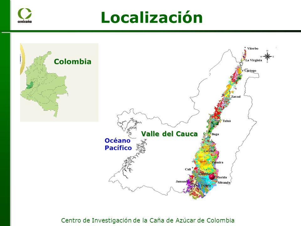 Centro de Investigación de la Caña de Azúcar de Colombia Localización Valle del Cauca