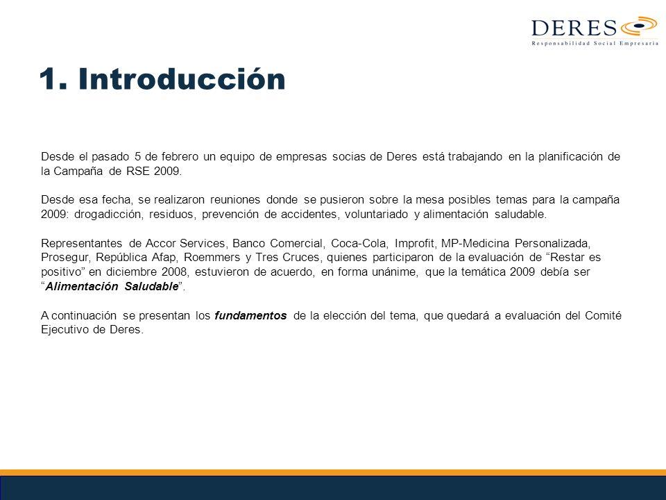 Notas 1. Introducción Desde el pasado 5 de febrero un equipo de empresas socias de Deres está trabajando en la planificación de la Campaña de RSE 2009