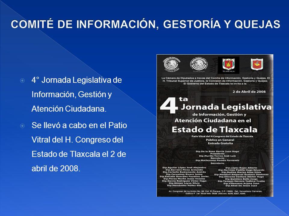 4° Jornada Legislativa de Información, Gestión y Atención Ciudadana.