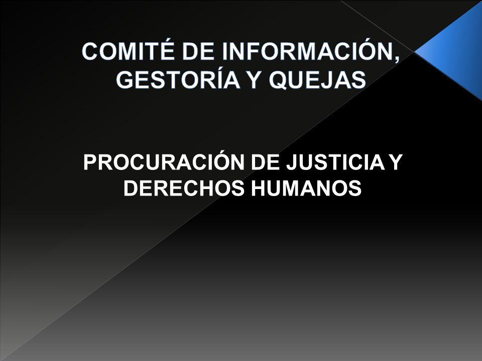 PROCURACIÓN DE JUSTICIA Y DERECHOS HUMANOS