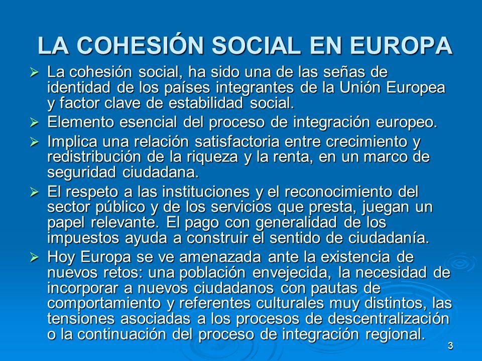 4 LA COHESIÓN SOCIAL EN AMÉRICA LATINA LA COHESIÓN SOCIAL EN AMÉRICA LATINA Factor esencial para consolidar la democracia y potenciar el crecimiento económico.