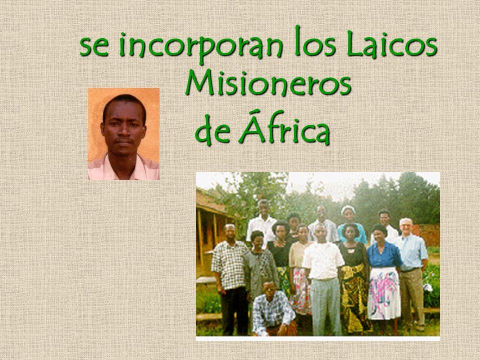 se incorporan los Laicos Misioneros de África