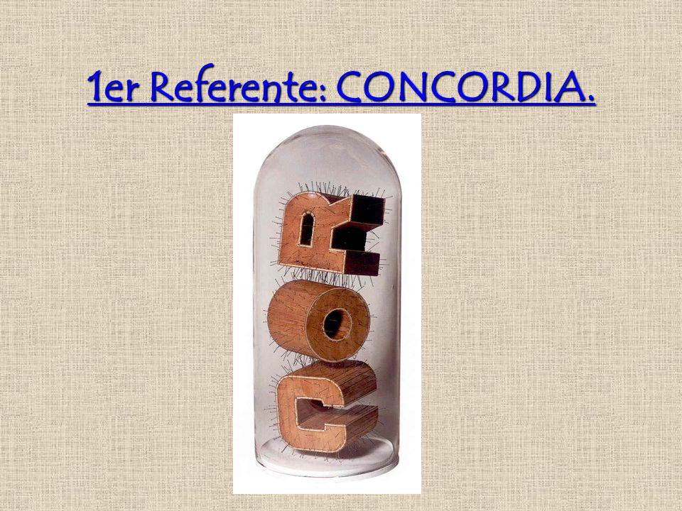 1er Referente: CONCORDIA.