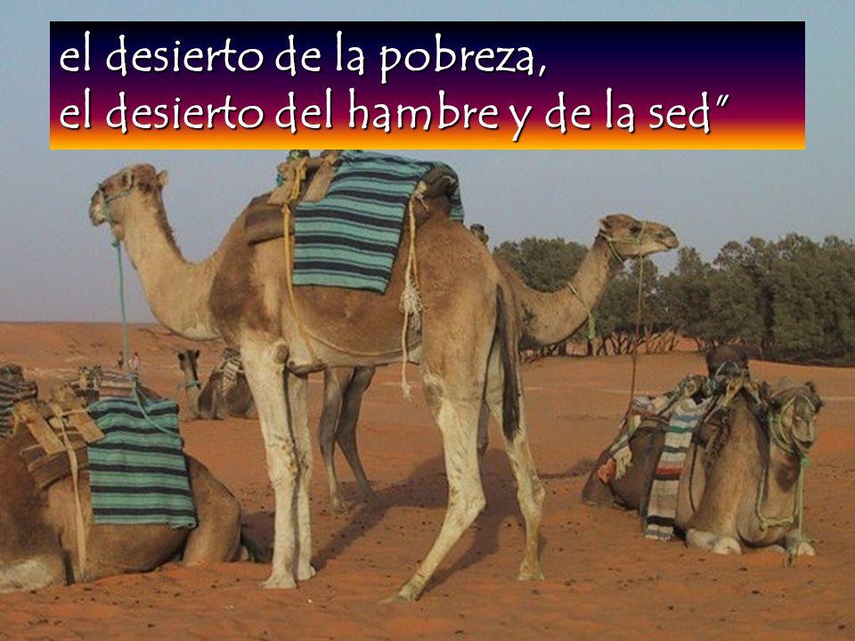 el desierto de la pobreza, el desierto del hambre y de la sed