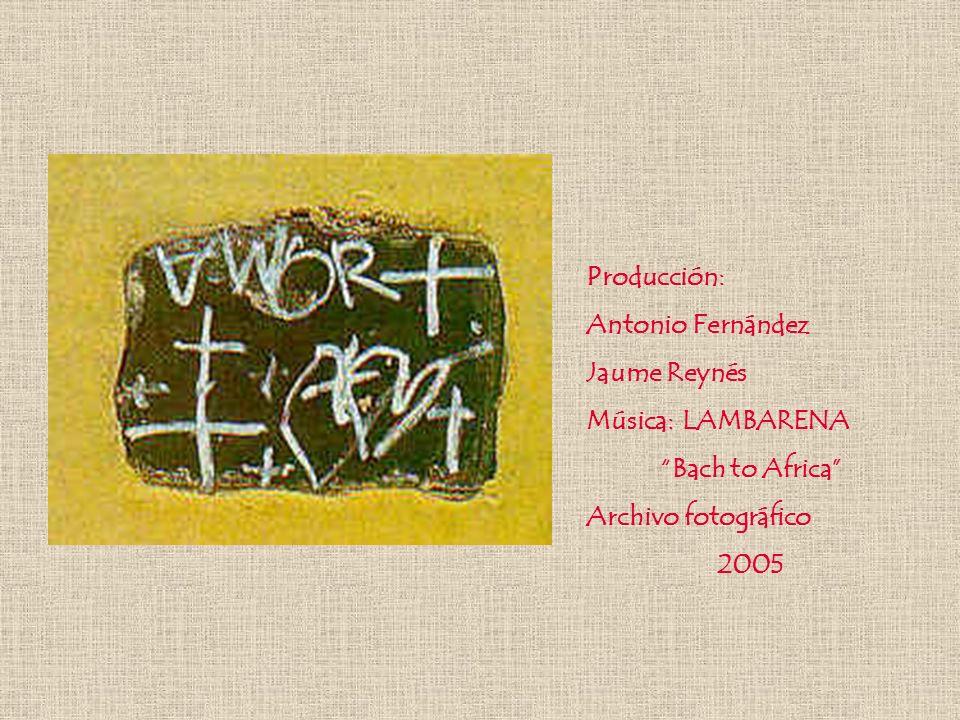 Producción: Antonio Fernández Jaume Reynés Música:LAMBARENA Bach to Africa Archivo fotográfico 2005