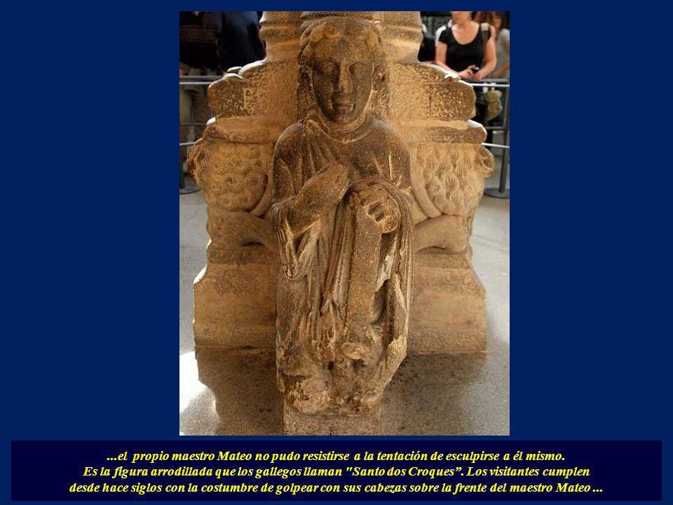 En el arco de la derecha aparecen representados la salvación de las almas, está dividido en tres partes, en el centro aparecen representados San Migue