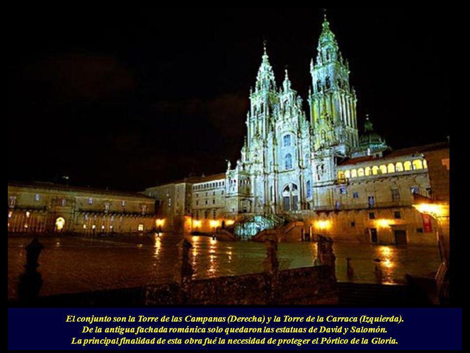 Esta fachada máxima expresión del barroco es obra de Fernando de Casas y Novoa que no llegó a ver su obra concluida. Falleció antes de cumplir los 50