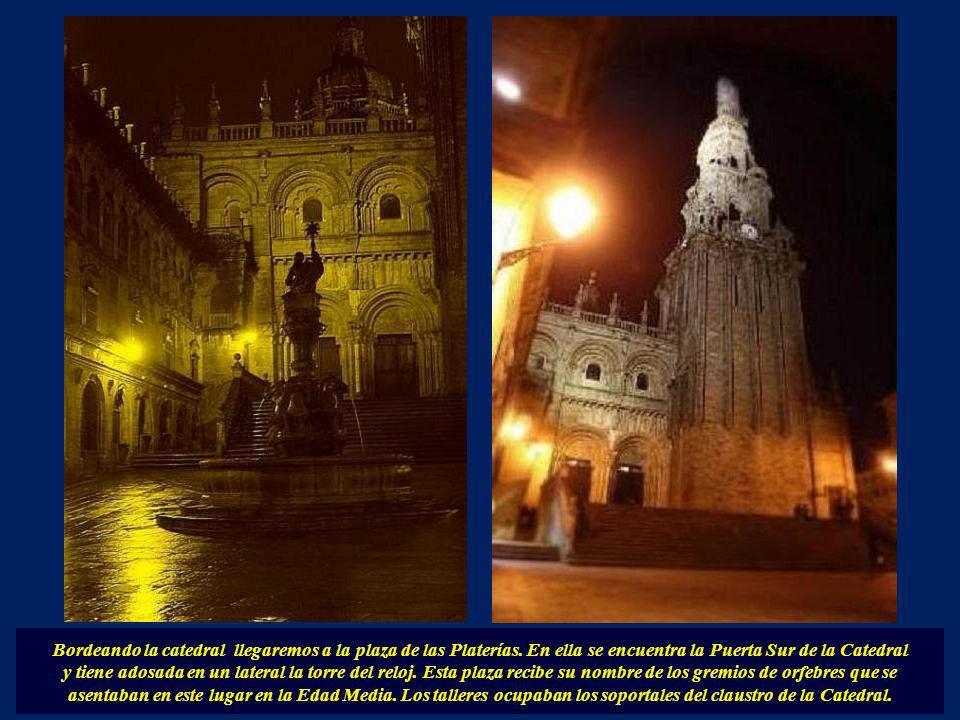 La Torre del Reloj o Berenguela, tiene 70 metros de altura. Se llama así en recuerdo de quien la mandó construir, el arzobispo Berenguel de Landora. C