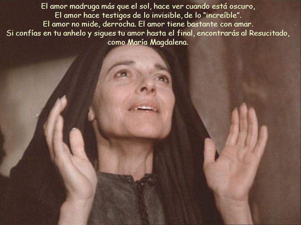 1 El domingo por la mañana, muy temprano, antes de salir el sol, María Magdalena se presentó en el sepulcro. Fue la sensibilidad, el dolor, la nostalg