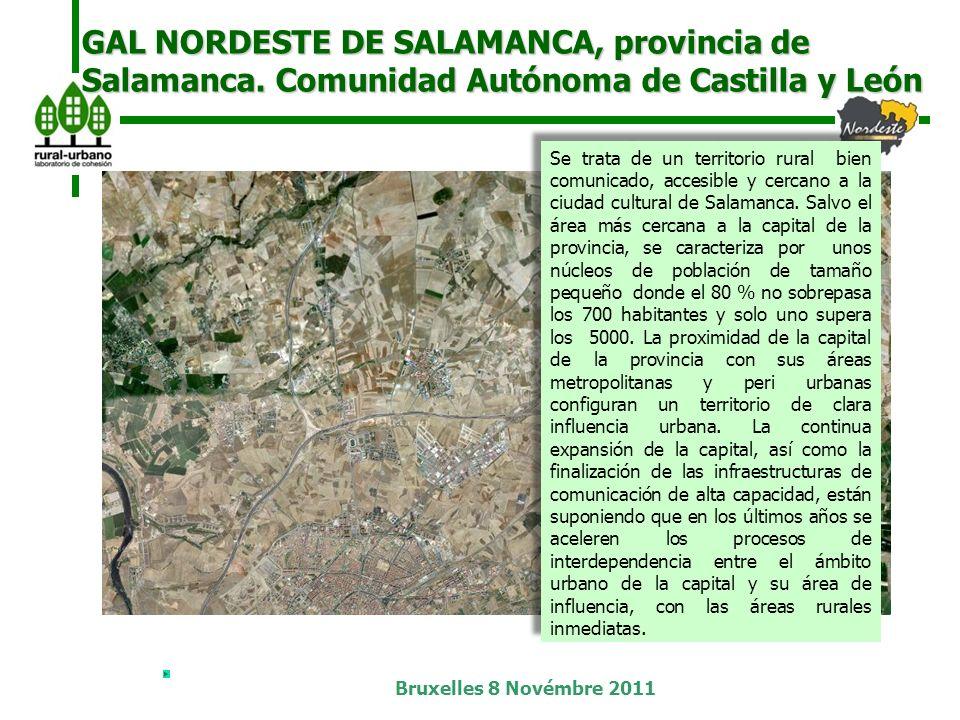 Bruxelles 8 Novémbre 2011 GAL NORDESTE DE SALAMANCA, provincia de Salamanca.