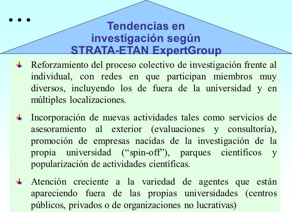 Reforzamiento del proceso colectivo de investigación frente al individual, con redes en que participan miembros muy diversos, incluyendo los de fuera