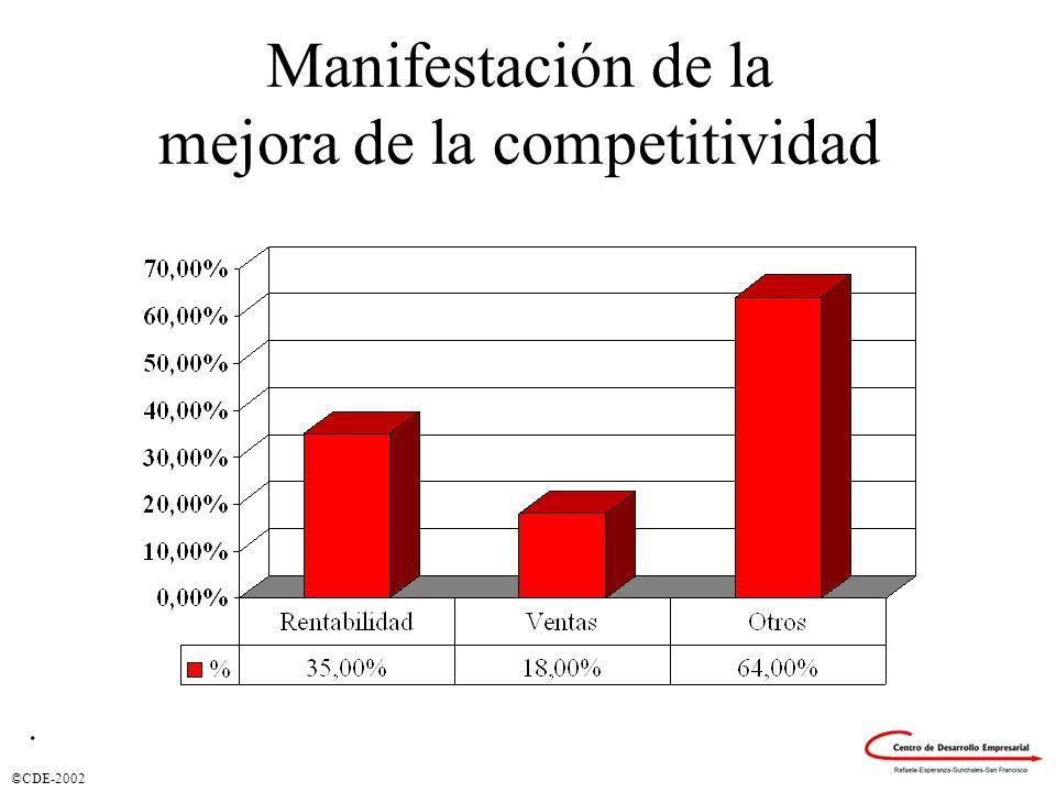 ©CDE-2002 Manifestación de la mejora de la competitividad.