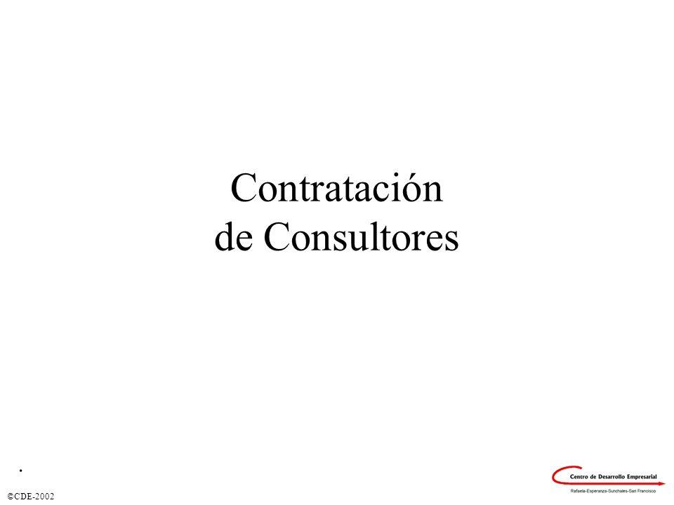 ©CDE-2002 Contratación de Consultores.
