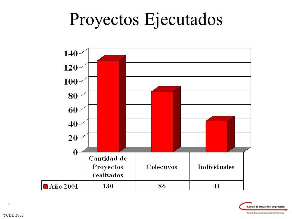 ©CDE-2002 Distribución por Ejes y Sectores (Proyectos).