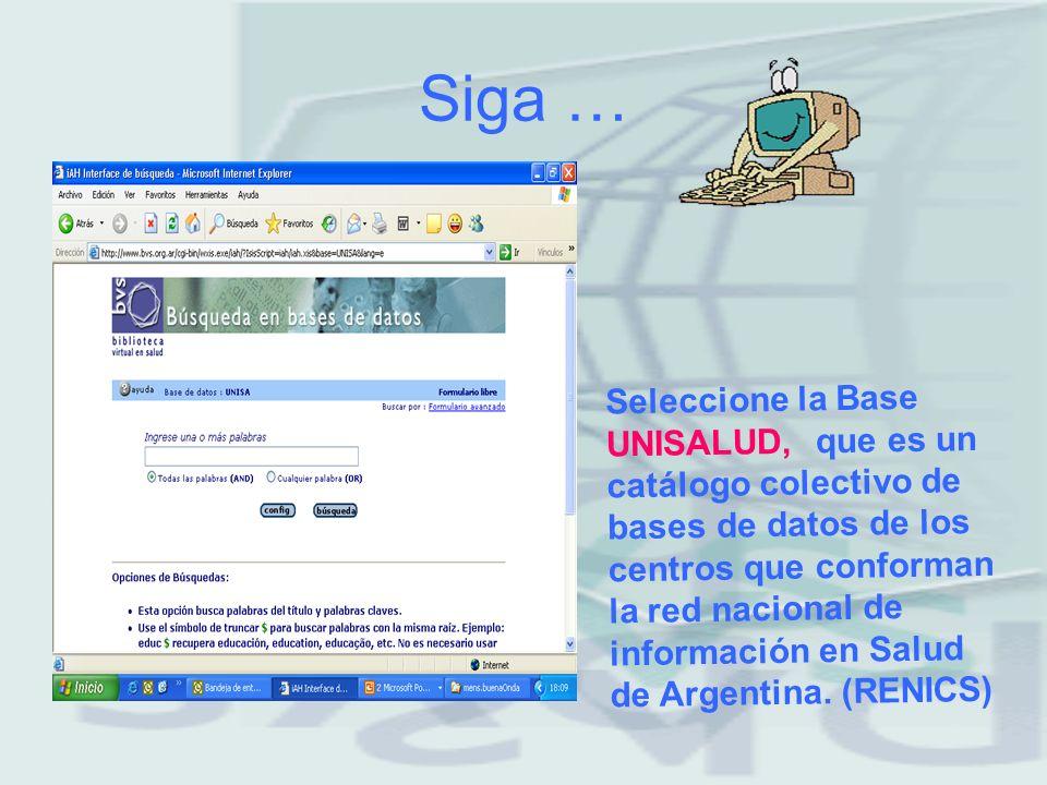 Paso 1 INGRESE al sitio www.bvs.org.ar biblioteca virtual en salud de Argentina.