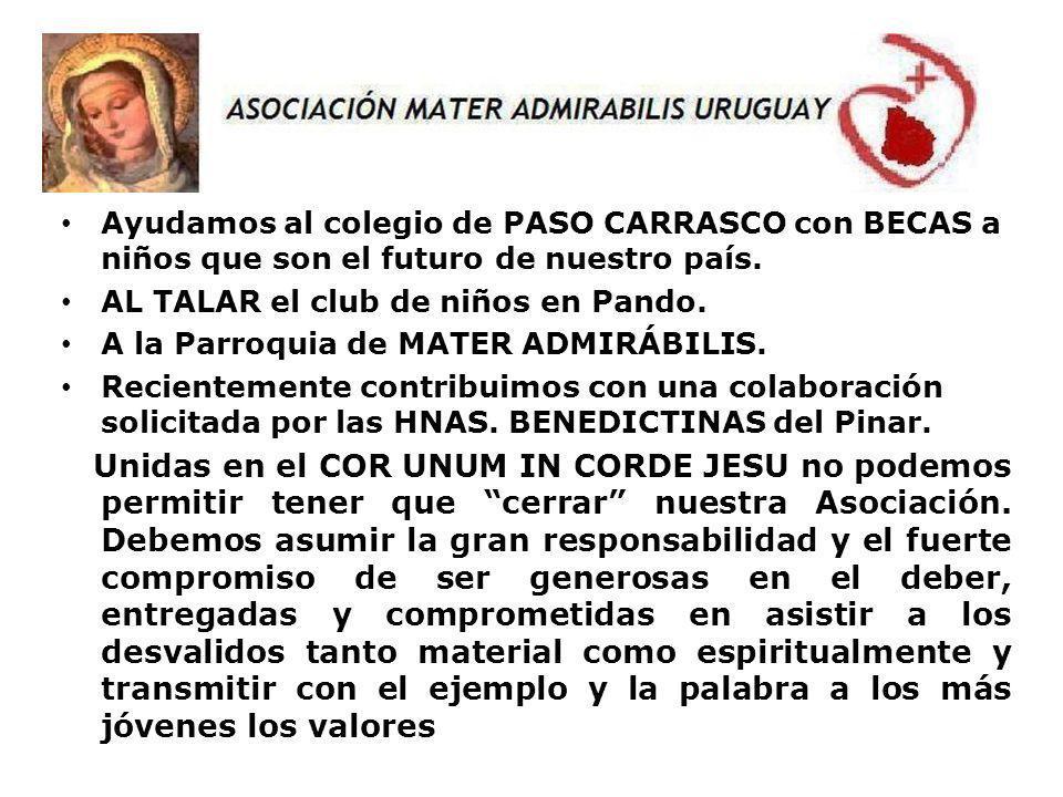 Ayudamos al colegio de PASO CARRASCO con BECAS a niños que son el futuro de nuestro país.