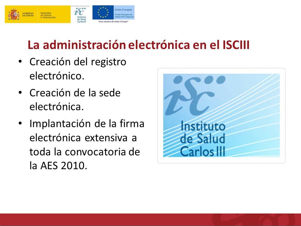 Creación del registro electrónico. Creación de la sede electrónica.