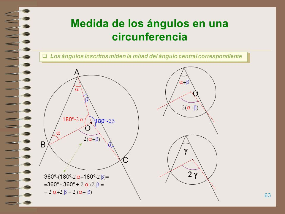 62 TEOREMA DEL SENO Los lados de un triángulo son proporcionales a los senos de los ángulos opuestos. El Teorema del seno sirve para relacionar los la