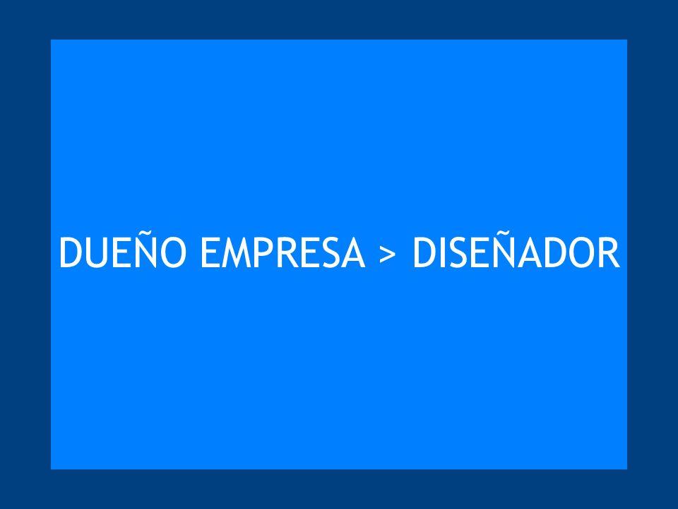 DUEÑO EMPRESA > DISEÑADOR