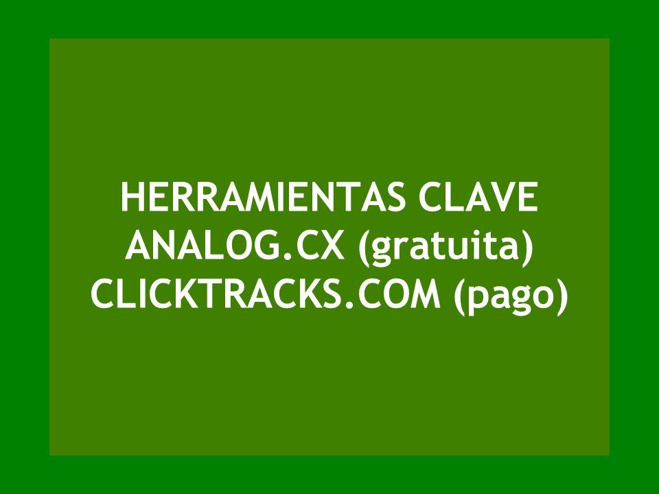 HERRAMIENTAS CLAVE ANALOG.CX (gratuita) CLICKTRACKS.COM (pago)
