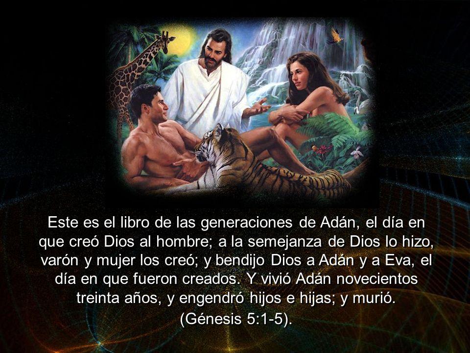 Este es el libro de las generaciones de Adán, el día en que creó Dios al hombre; a la semejanza de Dios lo hizo, varón y mujer los creó; y bendijo Dios a Adán y a Eva, el día en que fueron creados.