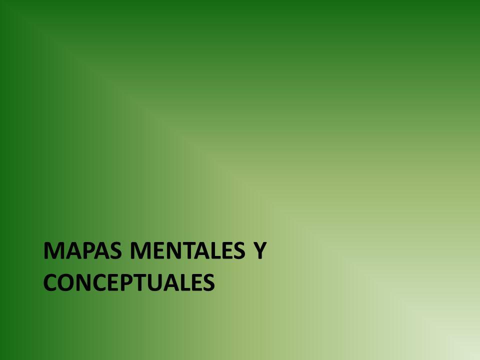 MAPAS MENTALES Y CONCEPTUALES